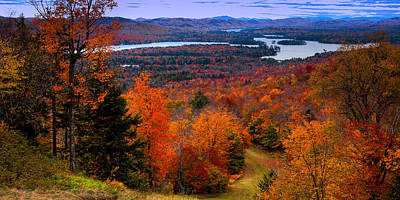 Of Autumn Photograph - View From Mccauley Mountain II by David Patterson