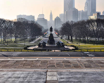Phila Digital Art - View From Rocky's Footsteps by Bill Cannon