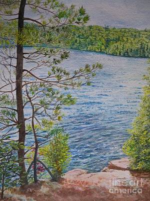Pines Painting - View From The Jumping Rocks by Lori Kallay