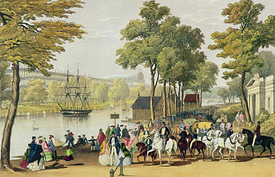 View From The North Bank Of The Serpentine Print by Philip Brannan