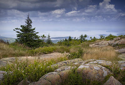 Cadilac Photograph - View From Top Of Cadilac Mountain In Acadia National Park by Randall Nyhof