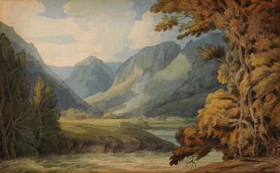Plants Painting - View In Borrowdale Of Eagle Crag And Rosthwaite by Celestial Images