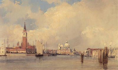 Italian Landscapes Painting - View In Venice by Richard Parkes Bonington