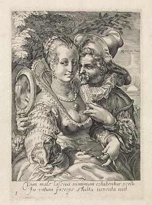 View, Jan Saenredam, Anonymous, Cornelius Schonaeus Print by Jan Saenredam And Anonymous And Cornelius Schonaeus