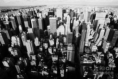 View North And Down Towards Central Park From Empire State Building Print by Joe Fox