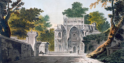 View Of A Mosque At Chunar Gur Print by William Hodges
