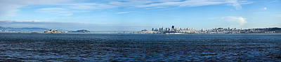 Alcatraz Photograph - View Of Alcatraz Island And San by Panoramic Images