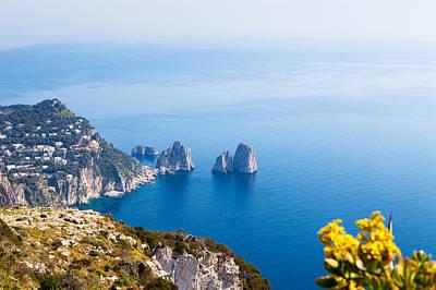 Viewpoint Photograph - View Of Amalfi Coast by Susan  Schmitz
