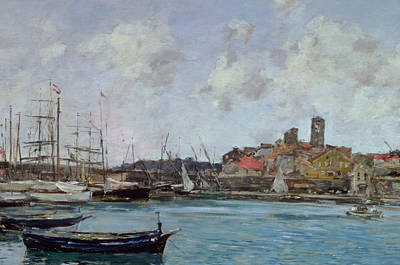 View Of Antibes Print by Eugene Louis Boudin