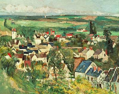 Rooftops Painting - View Of Auvers From Above by Paul Cezanne