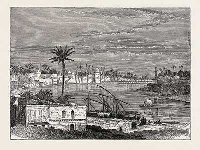 View Of Baghdad. Capital Of The Republic Of Iraq Print by Litz Collection