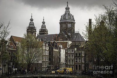 Three Little Kittens Designs Photograph - View Of Basilica Of St Nicholas Amsterdam by Teresa Mucha