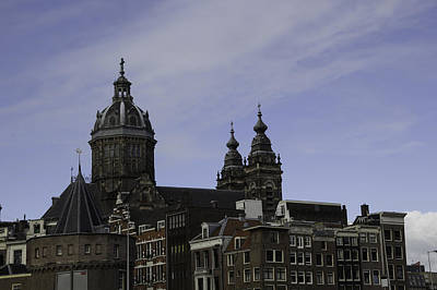 Three Little Kittens Designs Photograph - View Of Basilica Of St Nicholas In Amsterdam by Teresa Mucha