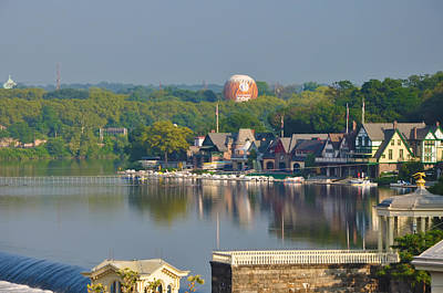 View Of Boathouse Row  Print by Bill Cannon