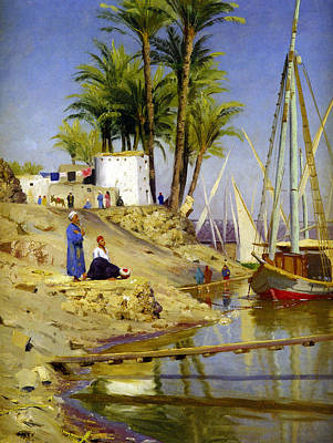 Gangs Digital Art - View Of Cairo by Peder Mork Monsted