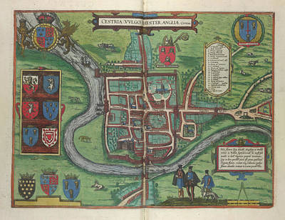 Chester Photograph - View Of Chester by British Library