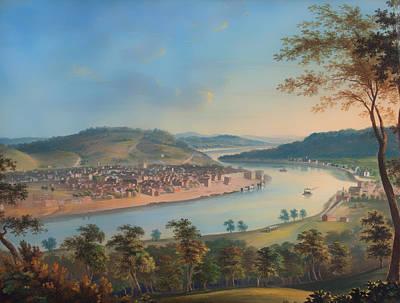 Cincinnati Ohio Painting - View Of Cincinnati From Covington by Mountain Dreams