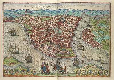 View Of Constantinople Print by British Library