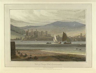 View Of Conwy Castle In Caernarvonshire Print by British Library