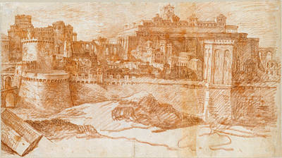 Philippe De Champaigne Drawing - View Of Jerusalem With The Temple Of Solomon by Philippe de Champaigne