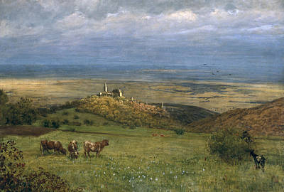 Hill Top Village Painting - View Of Kronberg In Taunus by Hans Thoma