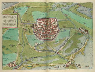 Leiden Photograph - View Of Leiden by British Library