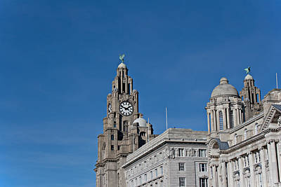 Scouse Photograph - View Of Liverpool Waterfront by Ken Biggs