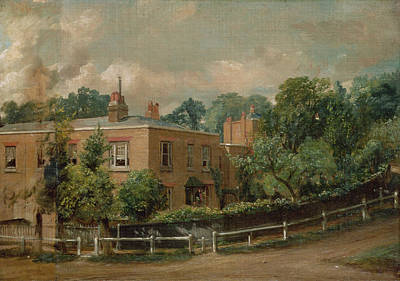 Fencing Painting - View Of Lower Terrace, Hampstead by John Constable