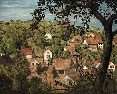 Taunus Painting - View Of Mammolshaim In The Taunus by Hans Thoma
