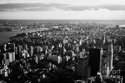 view of manhattan south east towards east river and Brooklyn new york city cityscape usa Print by Joe Fox