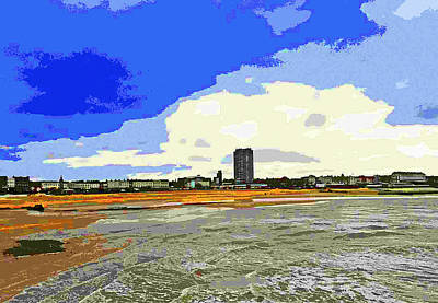 Brutalist Digital Art - View Of Margate With Arlington House by Jeff Laurents