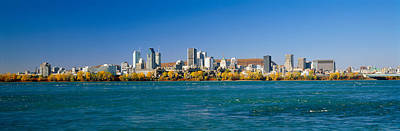 Montreal Cityscapes Photograph - View Of Montreal Skyline And The Saint by Panoramic Images