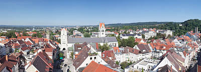 Turm Photograph - View Of Old Town With Liebfrauenkirche by Panoramic Images