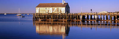 Cape Cod Photograph - View Of Pier In Ocean, Provincetown by Panoramic Images