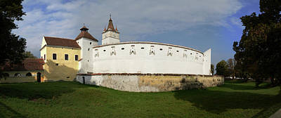 Romania Photograph - View Of Prejmer Fortified Church by Panoramic Images