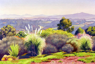 Eucalyptus Painting - View Of Rancho Santa Fe by Mary Helmreich