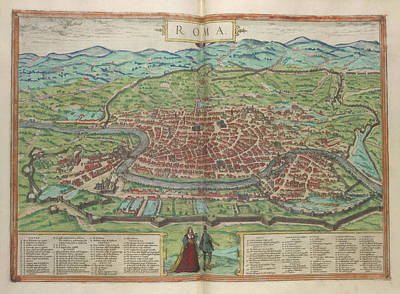 View Of Rome Print by British Library