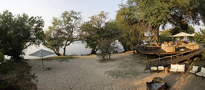 View Of Safari Camp, Toka Leya, Zambezi Print by Panoramic Images