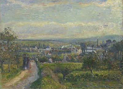 View Of Saint Ouen L Aumone, 1876 Print by Camille Pissarro