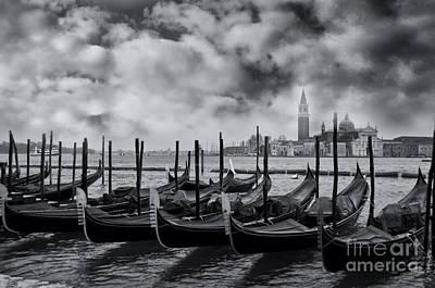 View Of San Giorgio Maggiore Venice Print by Design Remix