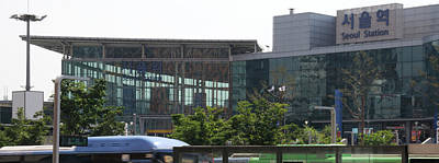 Seoul Photograph - View Of Seoul Station, Namdaemun by Panoramic Images