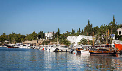 Habor Photograph - View Of Spetses Harbour by Paul Cowan