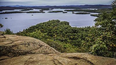 View Of Squam Lake From Rattlesnake Mountain Print by Karen Stephenson