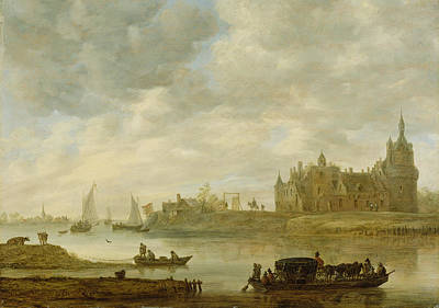View Of The Castle Of Wijk At Duurstede Print by Jan van Goyen