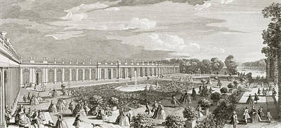 View Of The Chateau De Trianon Print by Jacques Rigaud
