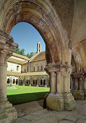 View Of The Cloister Photo Print by French School
