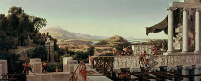 August Ahlborn Painting - View Of The Flower Of Greece by August Ahlborn