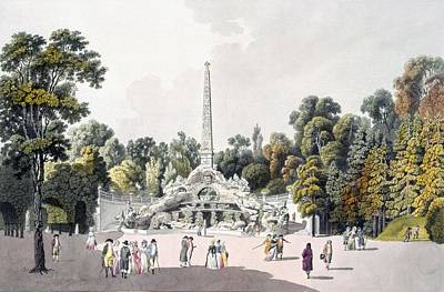 View Of The Garden At The Palace Print by Laurenz Janscha
