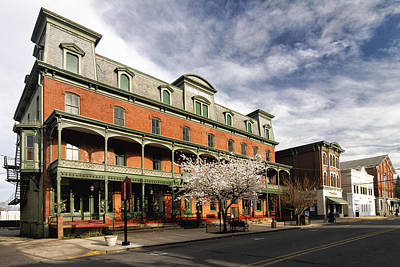 View Of The Historic Union Hotel In Flemington Print by George Oze