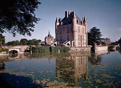 Chateau Photograph - View Of The Keep Of The Castle, Built 1355-88 Photo by French School